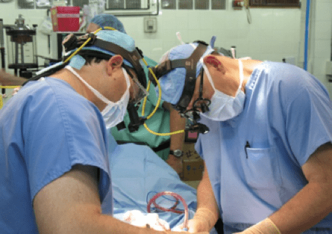 Dr. Romano Performing Cleft Lip Surgery